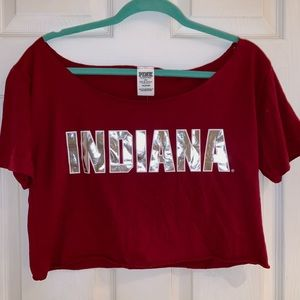PINK Indiana Hoosiers Crop Top - NWT